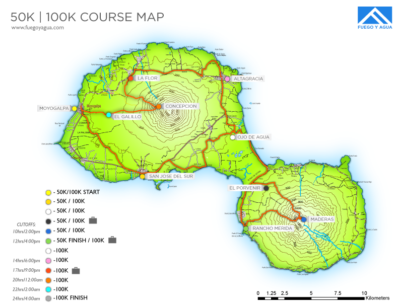 50KM Nicaragua Course Map